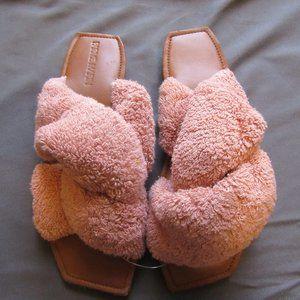 Anthropologie Parme Marin Terrycloth Sandals Pink